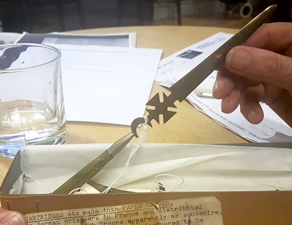 Letter opener fashioned by a German prisoner of war