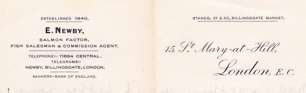 The firm's letterhead, courtesy of the Newby family