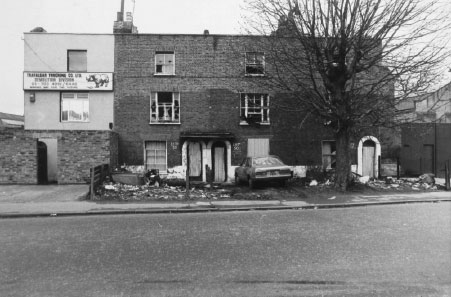 Photo of derelict housing 1979