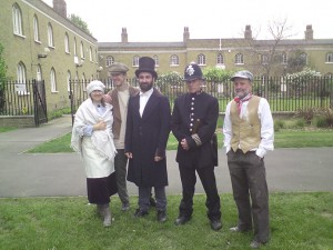 Photo of Friends of Burgess Park in period costumes