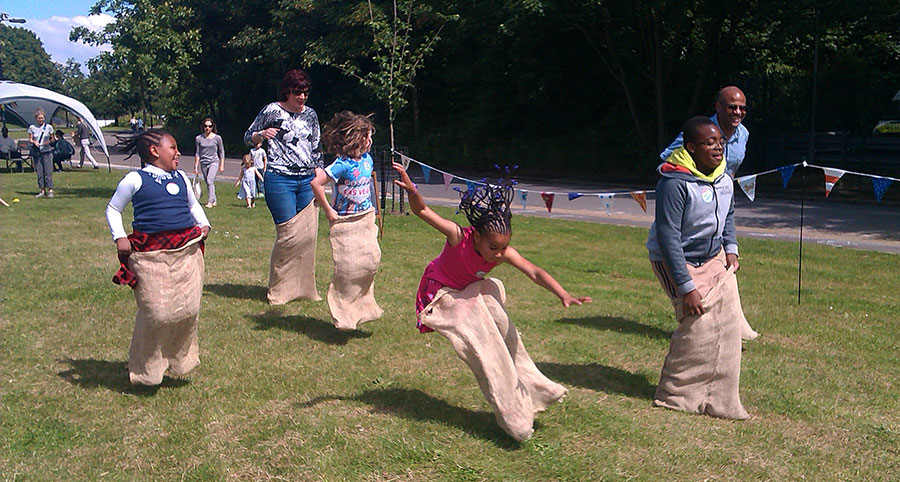 Photo of the sack race
