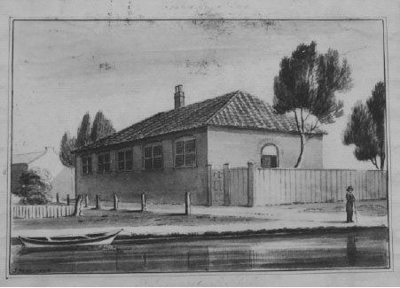 Watercolour of St George's National School, 1826