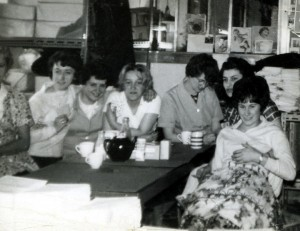 Group of 7 women on a tea break