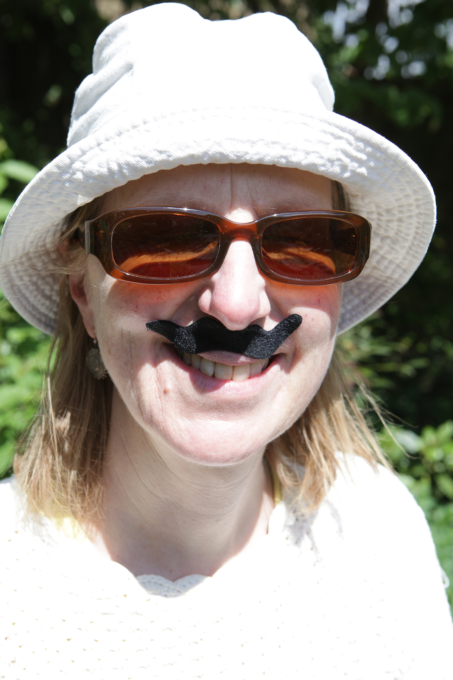 photo of Friend of Burgess Park in fake moustache