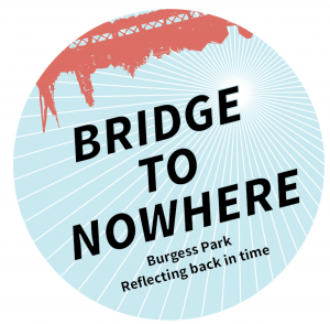Friends of Burgess Park Bridge to Nowhere circular logo